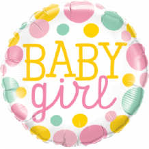 "Baby Girl Dots Foil Balloon (18"") 1pc"